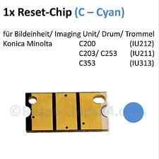 Reset Chip (C / Cyan) für Bildtrommel Konica Minolta Bizhub C200 C203 C253 C353