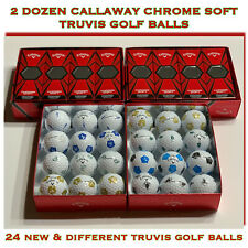 2 Dozen Callaway Chrome Soft TRUVIS Golf Balls - 24 New Golf Balls - FREE SHIP