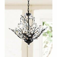 4 Light Chandelier Lighting Crystal Ceiling Fixtures Antique Copper Vintage Lamp