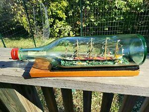Signed/Dated Italian Ship in Bottle * Diorama * Folk Art Whimsy * Super Nice!!!!