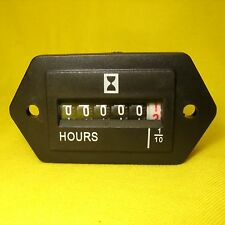 Hour Meter DC AC 12V 24V 10-80Volts Stationary Engine Gauge Marine Tractor Mower