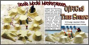 OLD TREE STUMPS X-LARGE Scale Model Masterpieces Fine Craftsman 12pcs  pab97971