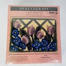 Shillcraft Garden Party Latch Hook Kit New 20 in x 27 in Pfaltzgraff 6732 Usa