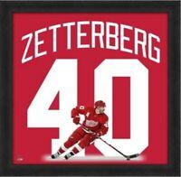 "Henrik Zetterberg Detroit Red Wings NHL Uniframe Photo (Size: 20"" x 20"") Framed"