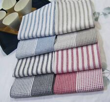 100% Cotton Kitchen Towels Pack of 2 - 1 x stripes & 1 x dots