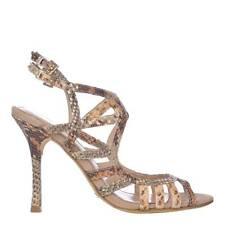 New occasion UK5 EU38 leather MENBUR Snakeskin Sandals Shoes + dust bag RRP£150