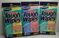 8PK Reusable Tough Wipes by Personal Care Products (Lot Of 3)