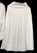 Fendi Skirt White Satin Pleated Nwt Size Extra Small 4