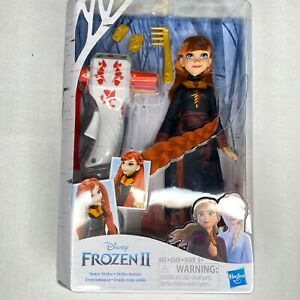Disney Frozen II Sister Styles Princess Anna Fashion Doll With Hair Styler NEW