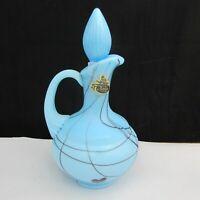 Fenton Robert Barber Turquoise Iridized Hanging Hearts Cruet 1976 A5 HTF!
