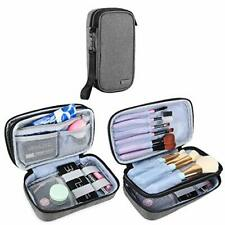 """Teamoy Travel Makeup Brush Bag(up to 8.5""""), Professional Cosmetic (Small