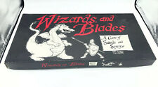 """""""WIZARDS AND BLADES: A GAME OF SWORDS AND SORCERY"""" 1983 VINTAGE GAME INCOMPLETE"""