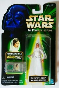Star Wars HASBRO The Power of Force Princess Leia CommTech Chip Japan 1999