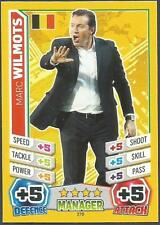 TOPPS MATCH ATTAX  BRAZIL 2014 WORLD CUP- #276-BELGIUM-MARC WILMOTS-MANAGER