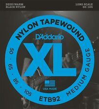 D'Addario ETB92 Nylon Tapewound Medium (.050-.105) Electric Bass Guitar Strings