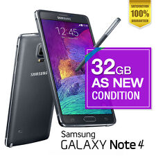 AS NEW Samsung Galaxy Note 4 32GB Black Unlocked Android Smartphone FROM SYDNEY