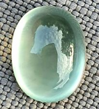 WaterfallGems 2.66ct Prehnite Cabochon, 9.5x7.4mm