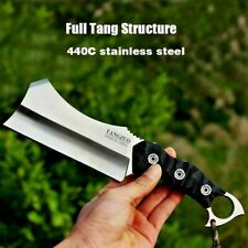 Mini Dao Blade Knife Hunting Camping Tactical Survival Combat G10 Fibers Handle