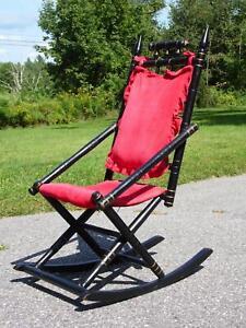 Antique 19th Century Victorian Ebonized Eastlake Rocker Rocking Chair Gothic
