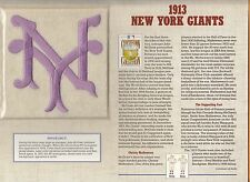 1913 NEW YORK NY GIANTS OFFICIAL MLB JERSEY PATCH 5 inch WILLABEE WARD