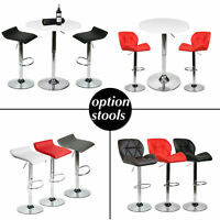 3 Piece Bar Table Set with 2 Stools Bistro Pub Kitchen Dining Chairs Furniture