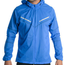 Men's NIKE Light Cyclone Jacket Hooded Full Zip Blue Color Size XL 1