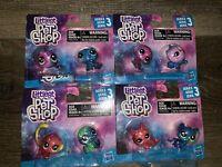 LITTLEST PET SHOP ~ Series-3 Figures Mini Cat Dog Monkey Hasbro Toy ~ Lot of 4