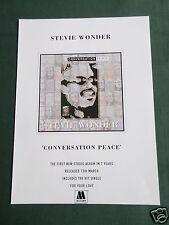 STEVIE WONDER - MAGAZINE CLIPPING / CUTTING- 1 PAGE ADVERT