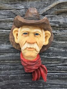 Wood Carving Cowboy Ranch Life Western Art Ooak Scott Longpre Originals #1
