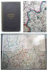 c1870 Large Hand Coloured Map CAMBRIDGE Leicester Nottingham Stamford Rutland