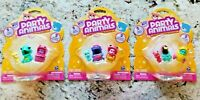 Spin Master Party Animals Lot of 3 Packages Hoppy, Jellie, Feathers, Fishy, More