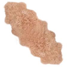 très doux LUXE EXTRA LARGE DOUBLE Tapis peau de mouton cachette fourrure beige