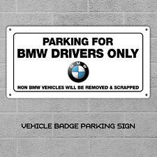 Estacionamiento privado Letrero de Metal Placa Personalizado Diversión Para Coche Puerta Entrada garaje