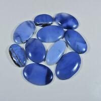 10Pcs Natural Blue Opal 273Cts. Oval Cabochon Loose Gemstone Lot hD326