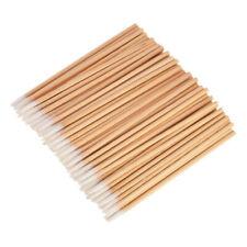100pcs Wood Cotton Swab Cosmetics Permanent Makeup Health Ear Clean Sticks Packs