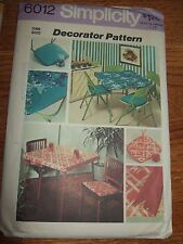 FAB HOME DECOR card table cover seat cushion coaster Crafts Sewing Pattern 6012