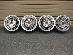 55 56 CADILLAC CHROME SABRE KELSEY HAYES WHEELS 15X6 5X5 BOLT PATTERN