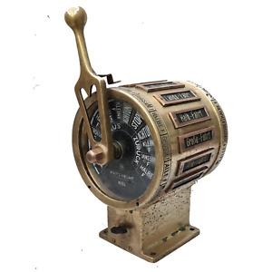 RARE! Fritz Hecht - Kriegsmarine - Bronze Ships Telegraph