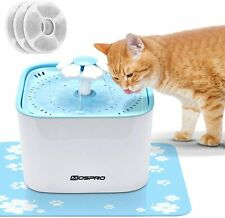 2L Electric Auto Drinking Fountain Water Dispenser W/Filter Pet Dog Cat Healthy