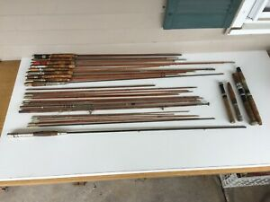 Vintage and Antique Bamboo Fly Rods For Parts. 29 Pieces. Montague Barton Brook.