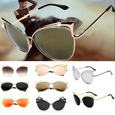 1b5ecd6562b0 Fashion Women Cat Eye Shape Glasses Metal Frame Vintage Sunglasses Eyewear