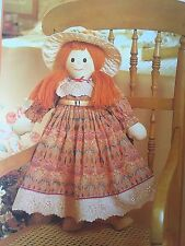 SEWING PATTERN Jean Greenhowe Isabella Rag Doll Toy with Clothes 61cm PATTERN