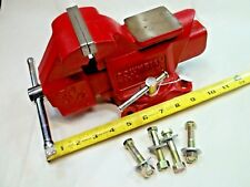 """COLUMBIAN Model D43-1/2, 3-1/2"""" Wide Jaws Swivel Bench Vise, Weighs 16 lbs, USA"""