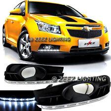 Direct Fit LED Daytime Running Light DRL Lamp Kit 2009 09-14 Chevy Cruze w/ Fog