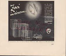 BERLIN, Werbung 1936, Blaupunkt Radio Technik Musik Rundfunk 5 W 86 Empfänger