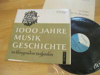 LP  1000 Jahre Musik Geschichte 1. Folge Knepler  Vinyl Eterna DDR 8 20 347