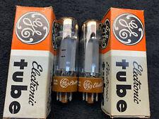 """2 NOS NIB Matched GE Amperex EL34 6CA7 Tubes """"D"""" Getter Holland"""