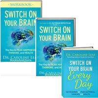 Switch on Your Brain Key to Peak Happiness Book, Workbook, Devo Caroline Leaf