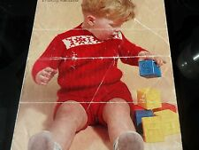 "Knitting Pattern Baby Ange Toddler Costume 1 To 2 ans 20-22"" tour de poitrine vintage"