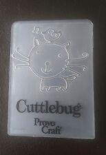 Cuttlebug Petit gaufrage dossier chat & oiseau s'adapte Sizzix Big Shot